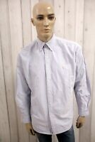 RALPH LAUREN Camicia Uomo Shirt Casual Cotone Manica Lunga Chemise Taglia 2XL