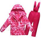 Girl's Boy's Warm Ski Suits Jacket  Pants Set Children's Waterproof Snowsuits