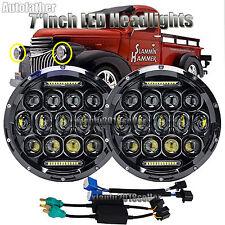 "2xFor CHEVY GMC PICKUP 1947-1957 7""Inch LED Headlight DRL H4 H13 Hi/Lo Beam Lamp"
