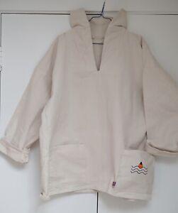 Fisherman Artist smock / Sz XL / Cornish Vintage French Workwear Albam RRL Apc