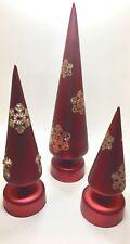 Set of Three Red LED Christmas Tree Decorations with Original Box