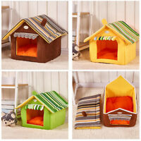 Pet Dog Cat Removable House&Bed Foldable Washable Soft Kennel Mat Puppy Cushion