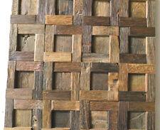 Wood Wall Tile, Wood Wall Decor, Mosaic Tiles, Rustic Tiles, Reclaimed Wood Tile