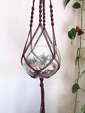 "Set of 2 Macrame Plant Hanger 40"", Terrarium holder"
