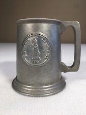 "University Of Virginia Pewter Mug 4.75"" Tall 1lb 3oz Solid Bottom Vintage Goblet"