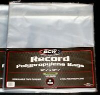 "500 RESEALABLE LP OUTER SLEEVES *High-Quality Ultra-Clear 12"" Vinyl Album Covers"