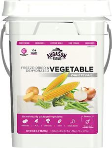 Emergency Food Supply Survival Vegetable Bucket 6 Varieties Ration Prepper Kit
