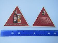 Beer Pub Coaster: Bass Ale Enjoyed By POETS ~ Step Into The Red Triangle ~ 1777