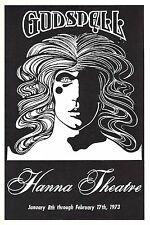 "Stephen Schwartz ""GODSPELL"" Cheryl Barnes / Danny Lipman 1973 Cleveland Playbill"