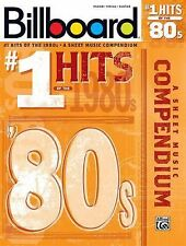 Billboard No. 1 Hits of the 1980s: A Sheet Music Compendium Piano/Vocal/Guitar
