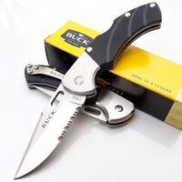 "Buck Talus Folding Pocket Knife 420HC Steel 2.5"" Blade Black Textured G10 Handle"