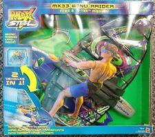 Mattel 2001 Max Steel MX33 Wind Raider Surfboard Hang Glider Action Playset MIB