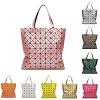 New 9*9 Lady's Handbag Tote Folding Women Geometric Shoulder Sling Shopper Bag