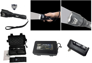 Police Force Tactical L2 LED Flashlight w/ Holster - Case - Battery Home Charger
