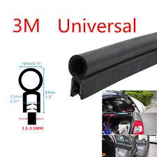 3M Car Door Black Rubber O U Channel Edge Edging Trim Seal Trunk Strip Universal