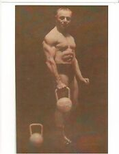 Siegmund Klein Bodybuilding Muscle Photo Lifting old style solid dumbell B+W