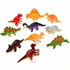 10 Mini Plastic Dinosaur Toys - Childrens Pocket Money Toys Fillers