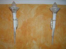 1 x Wandlampe Griechische Wikinger Leuchte Römische Lampe Steinmöbel Wandfackel