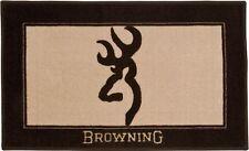Browning Tan & Brown Buckmark Logo Rug Bath Mat