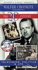 "WALTER CRONKITE ""TELEVISION, POLITICS & JFK"" VHS 1997 cbs sealed c"