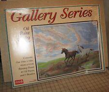 1996 CRAFT HOUSE Oil PBN Gallery Series Unopened Kit #11601 RUNNING WILD Horses