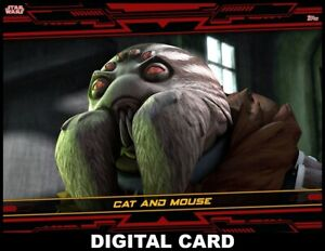 Topps Star Wars Card Trader CLONE WARS REVISITED Season 2 RED Cat and Mouse