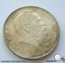 Coin Münze 3 Mark Luitpold Prinzregent von Bayern von 1911 in VZ