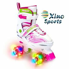 Xino Sports Adjustable Roller Skates for Children - Featuring Pu Wheels, Awes.