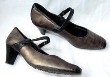 HOGL Designer Court Shoe Heeled Mary Janes Bronze / Black UK 3 EU 36