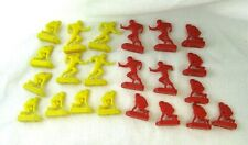 Vintage 1961 Tudor Tru-Action Electric Football Game 22 Red & Yellow Players