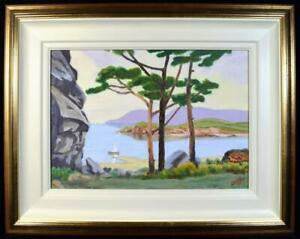 Original Art Painting 'Corsican Seascape' Signed Dated 2004