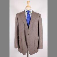 Calvin Klein 42R Brown Solid Wool Two Button Mens Sport Coat Blazer Jacket