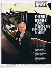 COUPURE DE PRESSE CLIPPING 1990 Pierre Bergé    (3 pages)