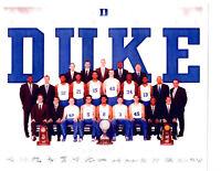 2014 2015 NCAA NATIONAL CHAMPIONS DUKE BLUE DEVILS 8X10 TEAM PHOTO BASKETBALL