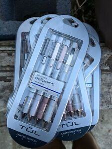 TUL BP Series Ballpoint Pens, Limited Edition, Pearl White Barrel, Blue Ink, 1.0
