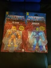NEW Masters of the Universe HE-MAN & SKELETOR ORIGINS Lot MOTU Walmart Exclusive