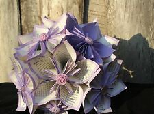 Vintage Handmade Customizable Wedding Paper Flower Bouquet Lavender