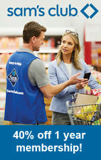 SAM'S CLUB MEMBERSHIP 40% off 1 year! >get your membership today - no wait time<