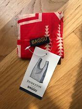 New w/tags Baby Baggu Pendleton Tote Bag in Harding Red Pattern, ripstop nylon