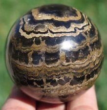 52mm 6.6OZ Natural Sromatolite Fossil Jasper Crystal Sphere Ball