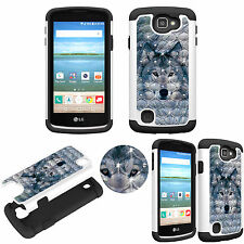 LG Optimus Zone 3/ Spree / K4 Diamond Protective TPU+PC Bling Shockproof Cover
