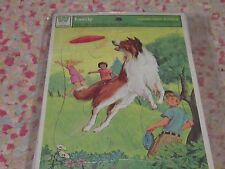 Vintage 1980s Lassie and Jack & Jill children's puzzle pair set Frame-Tray dog