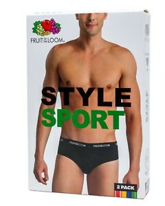 Fruit of the loom superior fit stretch Cotton Style Sport Fashion Briefs 2 pack