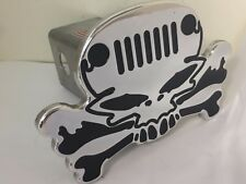 Jeep hitch cover, JEEP GRILL skull, skull JEEP