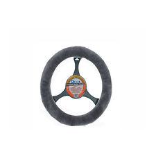 LUXURIOUS AUS Sheepskin Steering Wheel Cover Charcoal