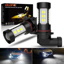 GLOFE 4000LM HB4/9006 White 6000K LED Bulbs CanBus Anti Fog Lights 1Pair Lamps