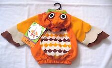 Owl Plush Costume Infant 9-18 months Hooded Jumpsuit New