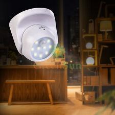 9 LED Inalámbrico PIR Sensor de Movimiento Luz Nocturna Lámpara Pared Armario