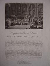 Gravure Baptême du ROI DE ROME  Napoléon II François Charles Joseph Bonaparte