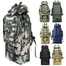 100L Outdoor Camping Bag Military Backpack Tactical Hiking Trekking Rucksack
